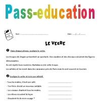Verbe Exercices A Imprimer Avec Le Corrige 4eme Primaire Pass Education