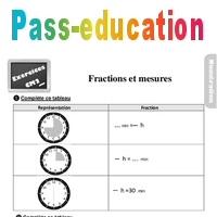 Exercices, révisions sur les fractions et les mesures au ...