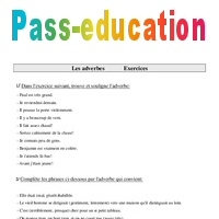 Adverbe Exercices Cm1 Grammaire Cycle 3