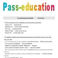 Pronoms Personnels Cm1 Exercices Grammaire Cycle 3