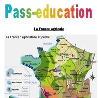 Carte de la France agricole - Ce2 cm1 cm2 - Pass Education