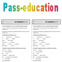 Homophones A A Ce1 Exercices Orthographe