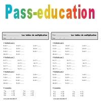 Les Tables De Multiplication Ce1 Exercices Calculs