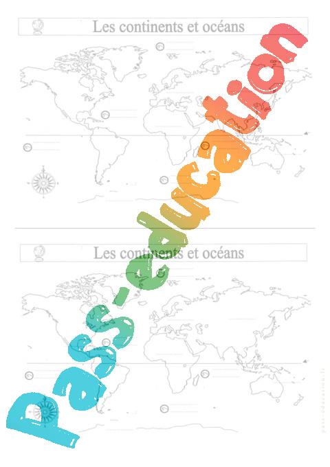 Notre Planete Ce2 Evaluation Continents Et Oceans