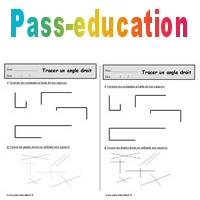 Angle Droit Ce1 Exercices Geometrie A Imprimer