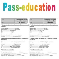 Présent - Etre, avoir, aller - Ce1 - Conjugaison - Exercices corrigés - Cycle 2 - Pass Education