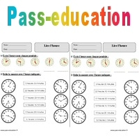 Lire L Heure Ce1 Exercices Corriges Mesures Mathematiques Cycle 2