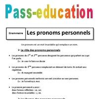 Pronoms Personnels 6eme Cours Classes Grammaticales