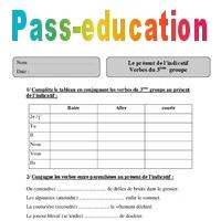 Verbes Du 3eme Groupe Present De L Indicatif Cm2 Exercices Corriges Conjugaison Cycle 3