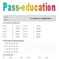 Tables De Multiplication Cm2 Exercices Corriges Calcul