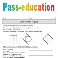 Construire Une Figure Cm1 Exercices Corriges Geometrie Mathematiques Cycle 3