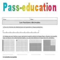Fractions décimales - Cm1 - Exercices corrigés ...