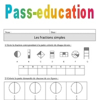 Fractions Simples Cm1 Exercices Corriges Numeration Mathematiques Cycle 3