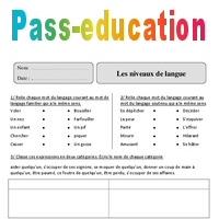 Niveaux De Langue Cm2 Exercices Corriges Vocabulaire Cycle 3