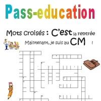 Mots Croises De La Rentree Cm1 Cm2 Jeux Educatifs Cycle 3