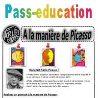Picasso Portraits Ce1 Ce2 Cm1 Cm2 Arts Visuels Cycle 3 Pass Education