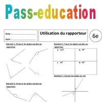 Utilisation Du Rapporteur 6eme Exercices Corriges Angles