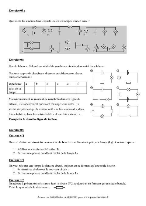exercice physique chimie 5eme