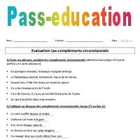 Complements Circonstanciels Cm1 Cm2 Evaluation
