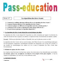 Repartition Des Etres Vivants 6eme Cours Svt