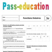 Fonctions linéaires - 3ème - Exercices corrigés - Pass ...