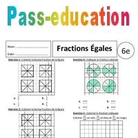Fraction et partage - 6ème - Exercices corrigés ...