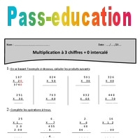 0 Intercale Multiplication A 3 Chiffres Cm1 Exercices Avec