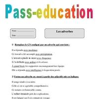 Adverbes Cm2 Fiche D Exercices Avec Correction