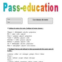 Classes de mots - Cm2 - Fiche d'exercices avec correction ...