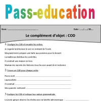 Cod Complement D Objet Cm1 Exercices A Imprimer