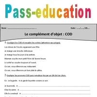 Complement D Objet Cod Cm1 Exercices Avec Correction