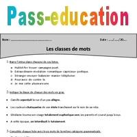 Exercices Avec Correction Classes De Mots Cm2