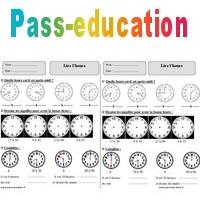 Lire l'heure - Ce1 - Exercices à imprimer - Pass Education