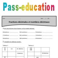 Nombres décimaux et fractions décimales - Cm1 - Exercices avec correction - Pass Education