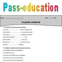 Passe Compose Cm2 Exercices A Imprimer