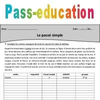 Passe Simple Cm1 Exercices A Imprimer