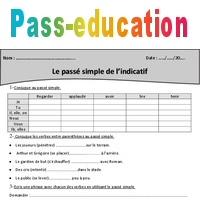 Passé simple - Cm2 - Exercices à imprimer - Pass Education