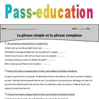 Phrase Simple Phrase Complexe Cm1 Exercices A Imprimer