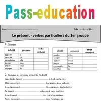 Verbes Particuliers Du 1er Groupe Present Cm1 Exercices