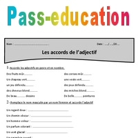 Accords De L Adjectif Cm1 Exercices A Imprimer