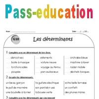Déterminants - Ce1 - Exercices à imprimer - Pass Education