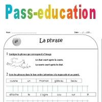 La phrase - Ce1 - Exercices corrigés - Pass Education