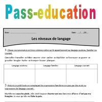 Niveaux De Langue Cm2 Exercices A Imprimer