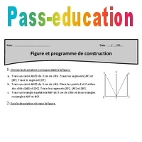 Programme De Construction Figures Cm1 Exercices A Imprimer