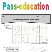Tracer Le Symetrique D Une Figure Cm1 Exercices A Imprimer