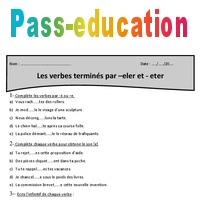 Verbes Termines Par Eler Er Eter Cm2 Exercices A Imprimer