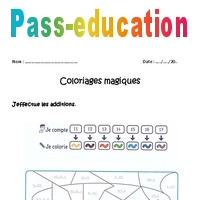 Additionner 10 Unite Cp Coloriage Magique A Imprimer