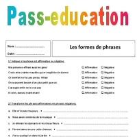 Affirmative Negative 5eme Exercices Sur Les Formes De Phrases