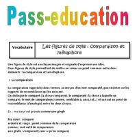 Metaphore Et Comparaison 5eme Cours Figures De Style