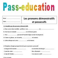 Demonstratifs Et Possessifs 6eme Exercices Sur Les Pronoms